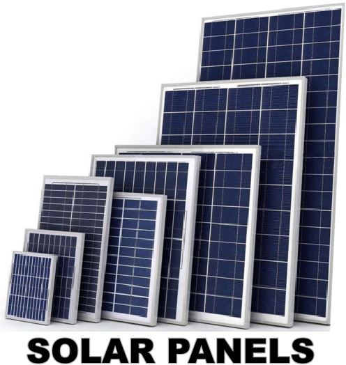 Different Size of Solar Panels