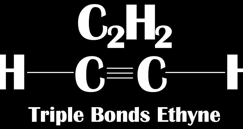 This image shows the Triple Bonds Ethyne