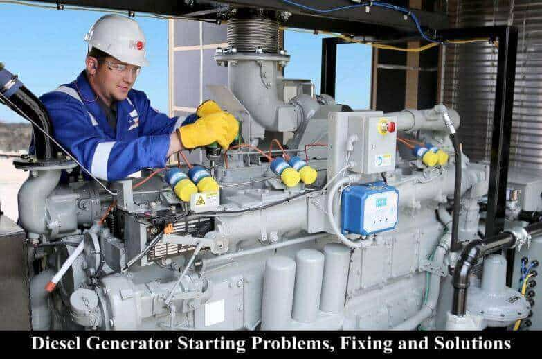 how to fix diesel generators starting issues