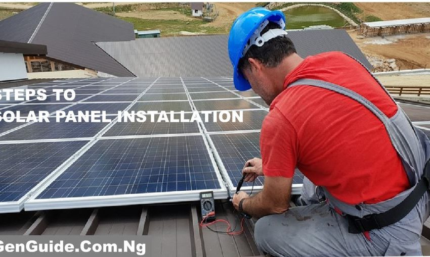 Solar Panel installation process step by step