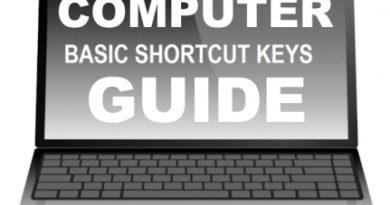 Basic Review on Basic Computer Shortcut Keys