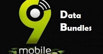 9Mobile (Etisalat) data bundles