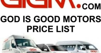 God Is Good Motors Price List