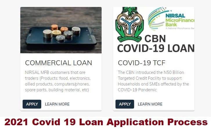 2021 Covid 19 Loan Application Process