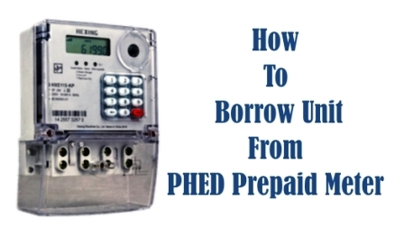 borrow unit from phed prepaid meter