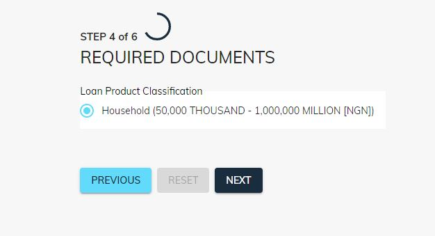covid-19 loan application form step four