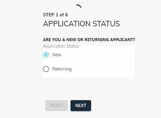 covid 19 loan application form step one
