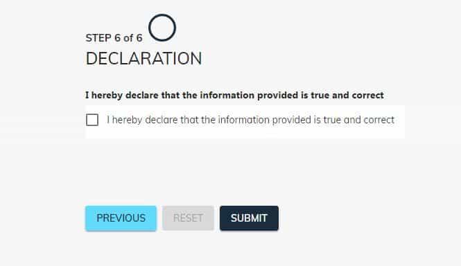 covid 19 loan application form step six