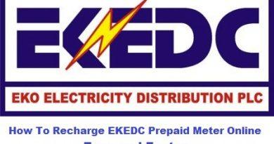 how to recharge ekedc prepaid meter online