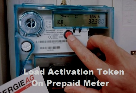 Load Activation Token On Prepaid Meter