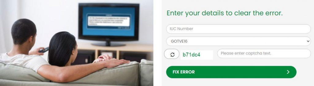 Fast Link on How to Clear Gotv Error Message