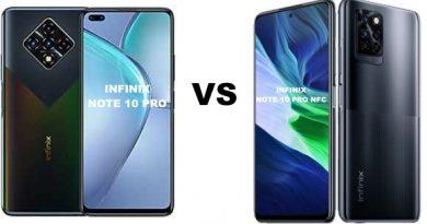 Infinix Note 10 Pro Vs Infinix Note 10 Pro NFC