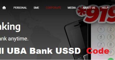 UBA bank USSD code